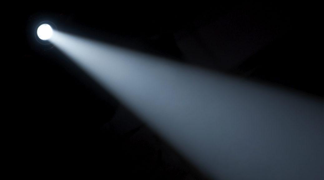 spotlight on a black background